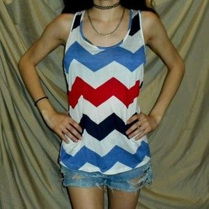 Red White Blue Crochet Tank Top Rue 21 NWT